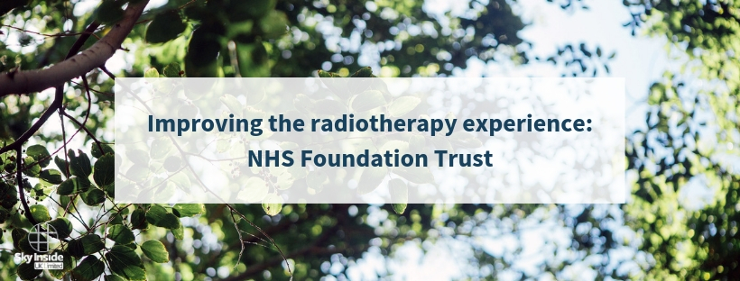 NHS foundation trust radiotherapy post banner for Sky Inside blog
