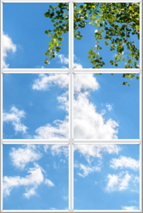Clouds sky and leaves design for LED skylight panels