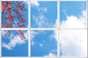 Bring light into a dark room with fake clouds and sky scenery
