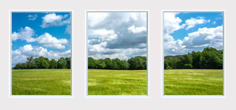 Countryside landscape design for a fake window for an office